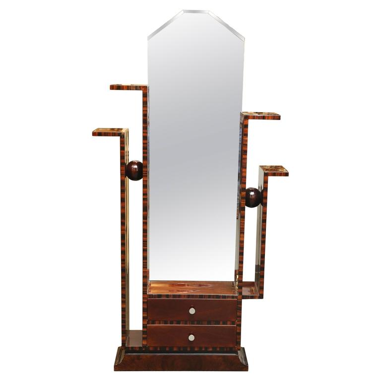 art deco floor mirror for sale at 1stdibs. Black Bedroom Furniture Sets. Home Design Ideas