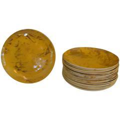Sascha Brastoff Marbleized Ceramic Plates