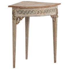 Swedish Gustavian Period Corner Table, circa 1785