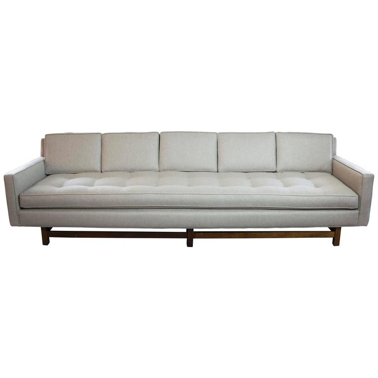 Extra Long Tuxedo Sofa In The Style Of Harvey Probber For Sale