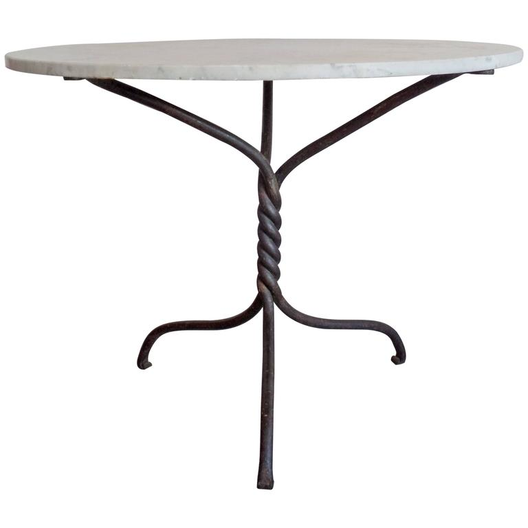 French 1940s Hand-Wrought Iron Table Base