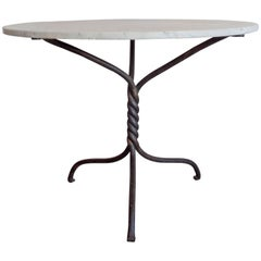 French Modern Neoclassical Hand-Wrought Iron Table Base