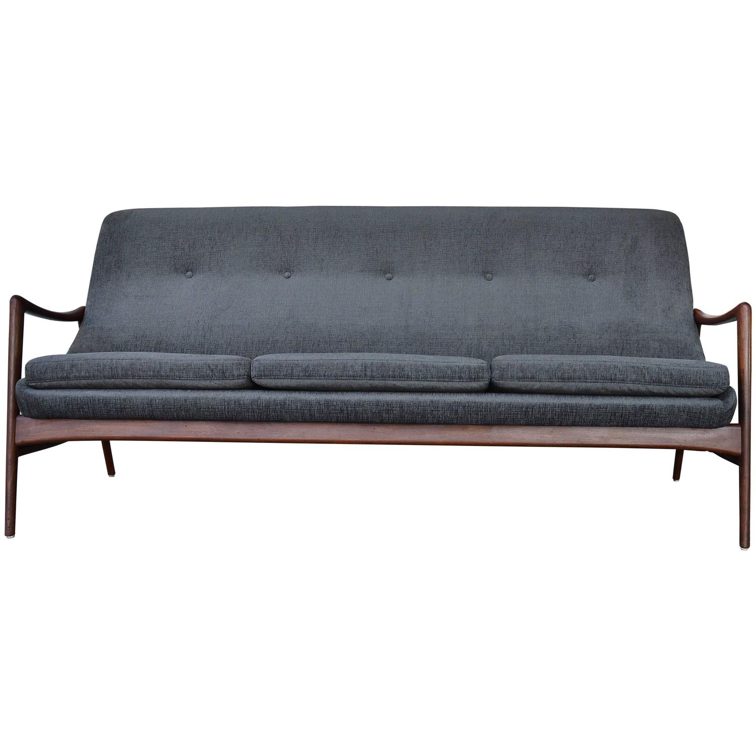 Restored Danish Modern Teak Sofa by Ingmar Relling for Westnofa at
