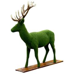 Dear Shape in Synthetic Turf with Antler