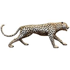Cheetah in Black and Silvered Bronze