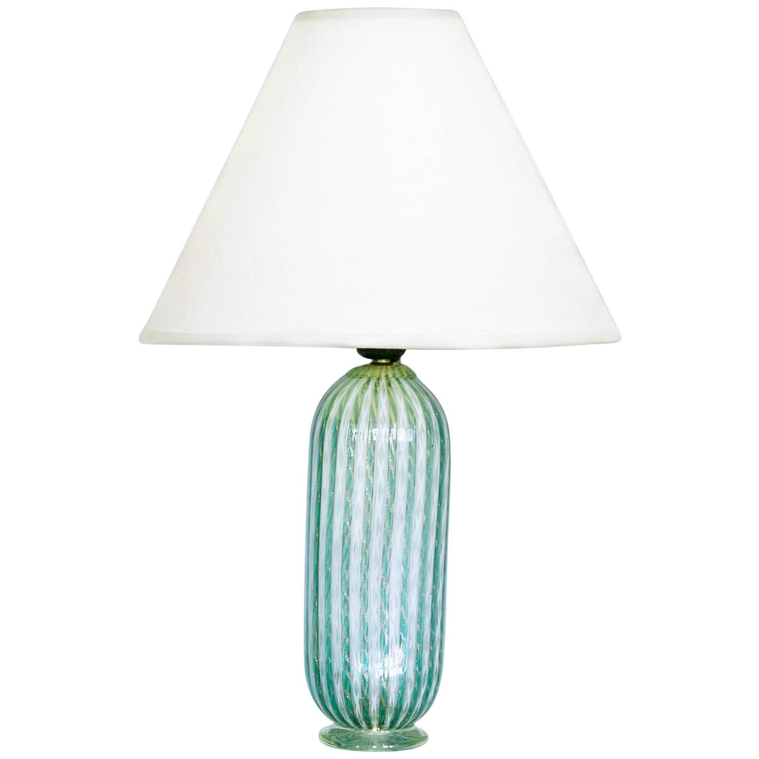 Vintage Murano Glass Table Lamp At 1stdibs