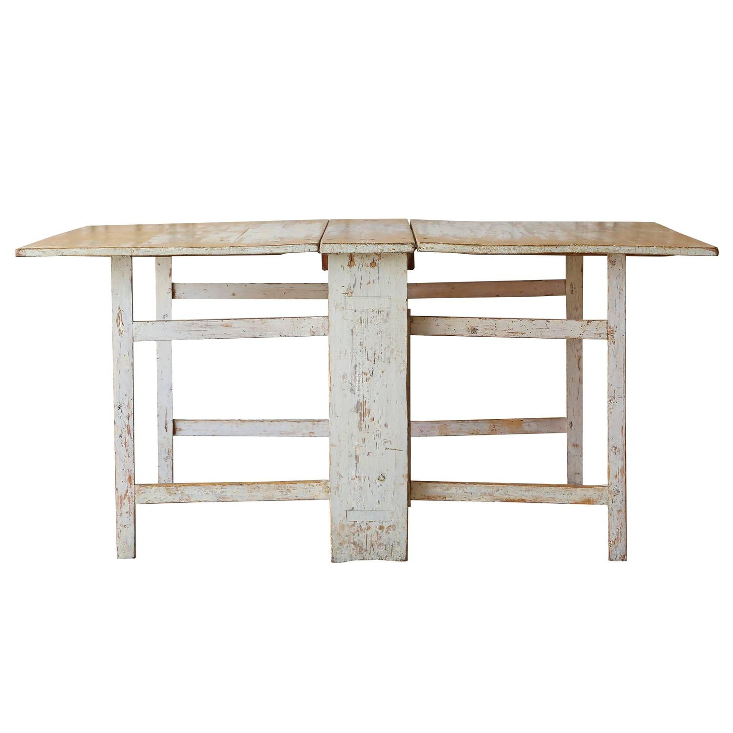 Antique gustavian drop leaf dining table at 1stdibs for Drop leaf dining table
