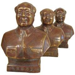 Copper Mao Busts, Cultural Revolution Period