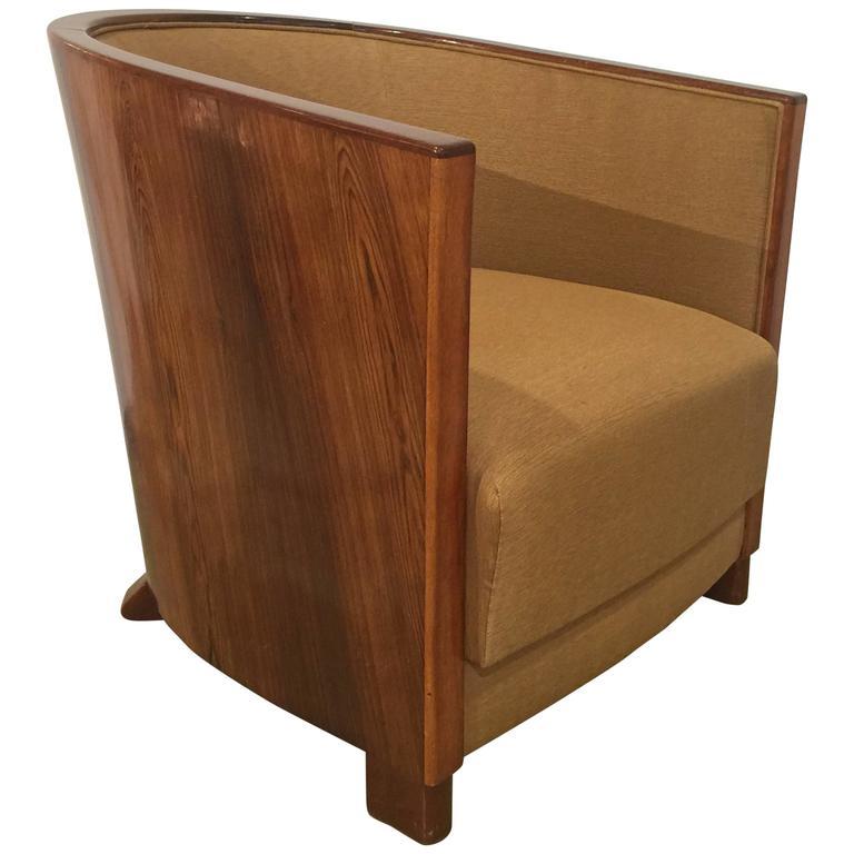 1940s Deco Rosewood Tub Armchair