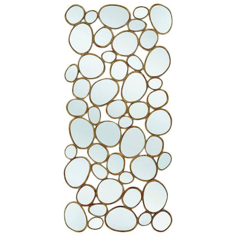 Multi-Drops Mirror with Mahogany Gold Finish Frame