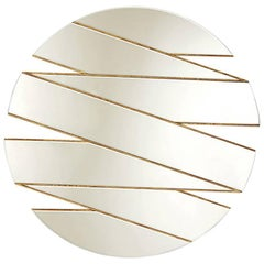 Mirror Zig-Zag with Antique Gold Finish