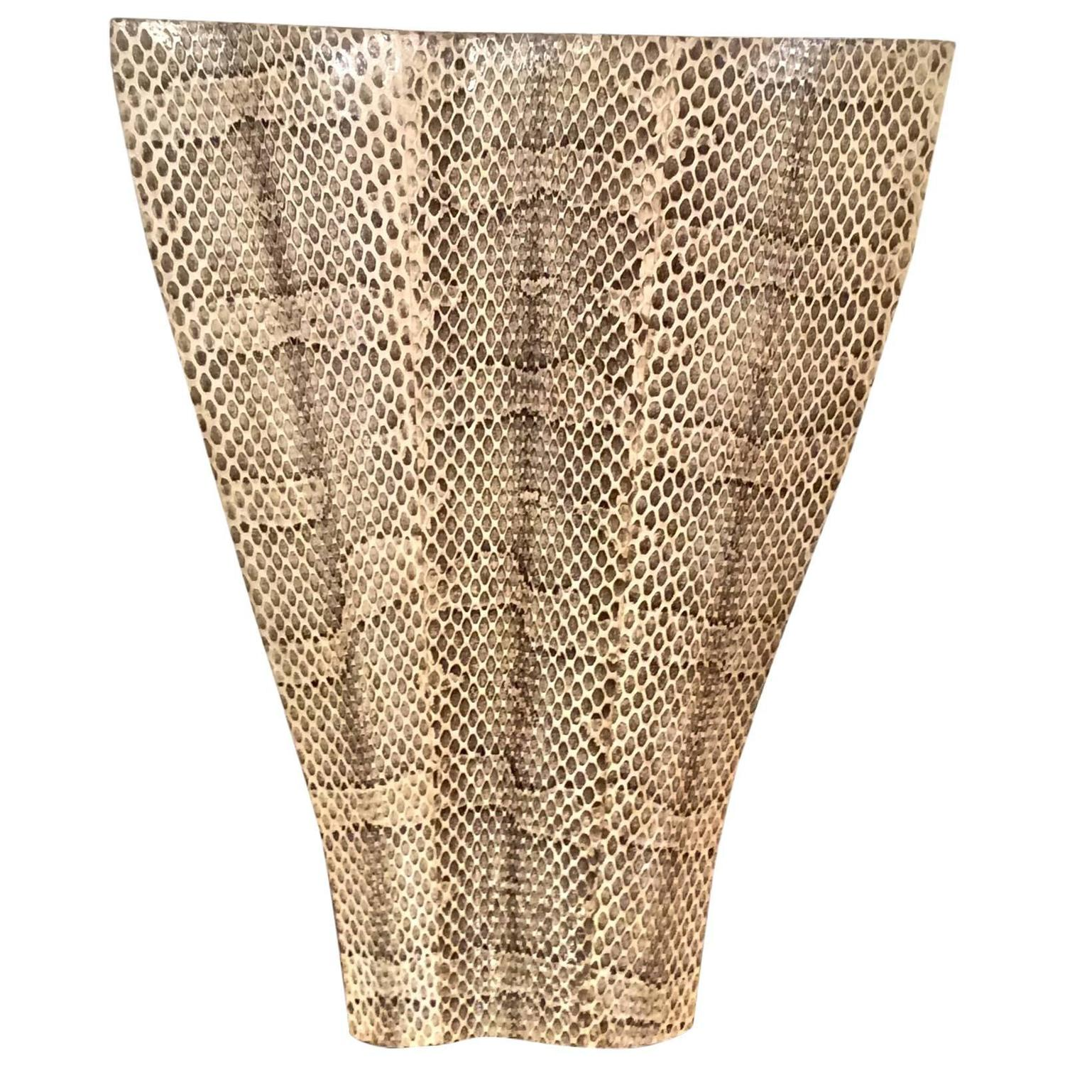 Sculptural snakeskin vase by r and y augousti for sale at 1stdibs reviewsmspy