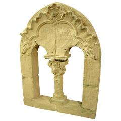 Faux Stone Roman Window French Theater Decor