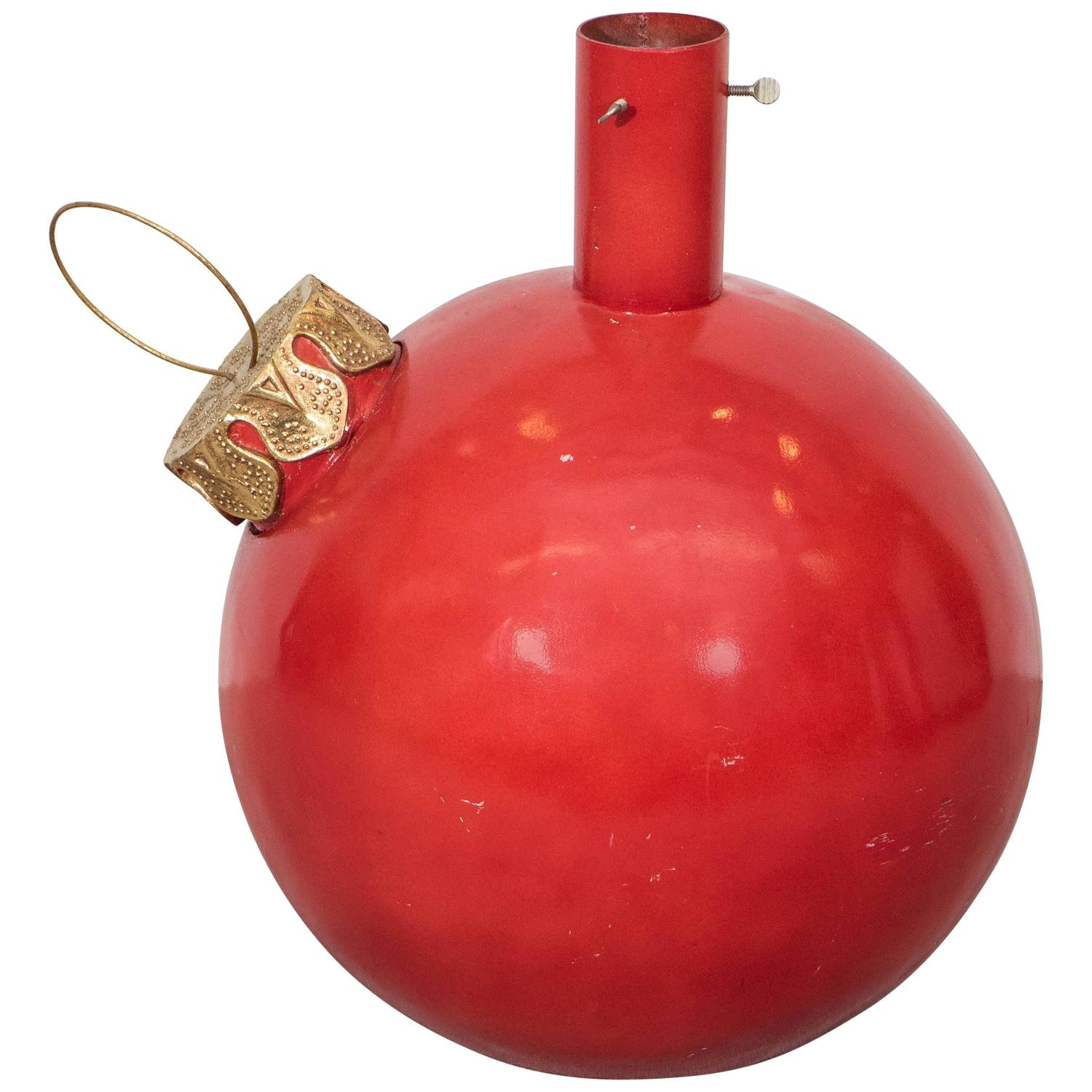 Large Red Christmas Tree Ornaments : Large red ball ornament christmas tree stand at stdibs
