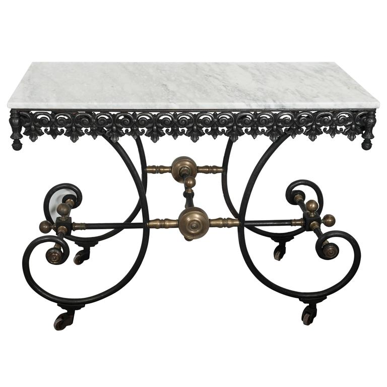 Antique french cast iron wrought iron and brass butcher table circa 1900 at 1stdibs