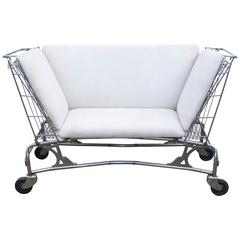 Mid-Century Shopping Cart Loveseat or Settee