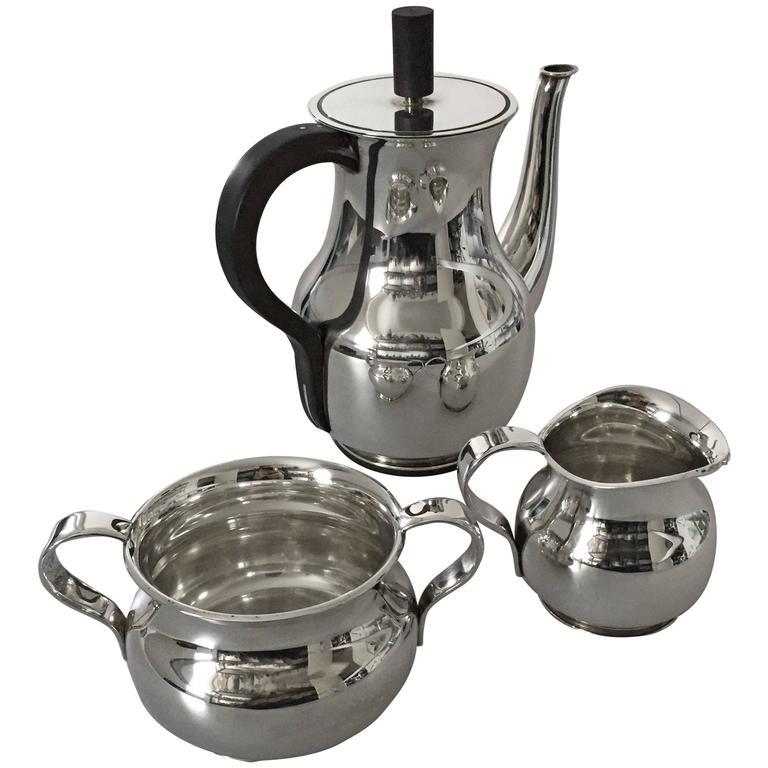 Hingelberg 1930s Sterling Silver Coffee Set