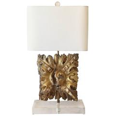 18th Century Architectural Fragment as Table Lamp