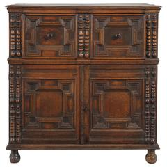17th Century Geometrically Moulded Enclosed Chest