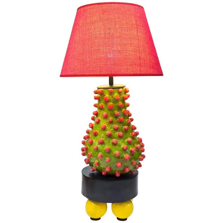 Alice Gavalet, Unique Large Table Lamp, Loulou, 2015 For