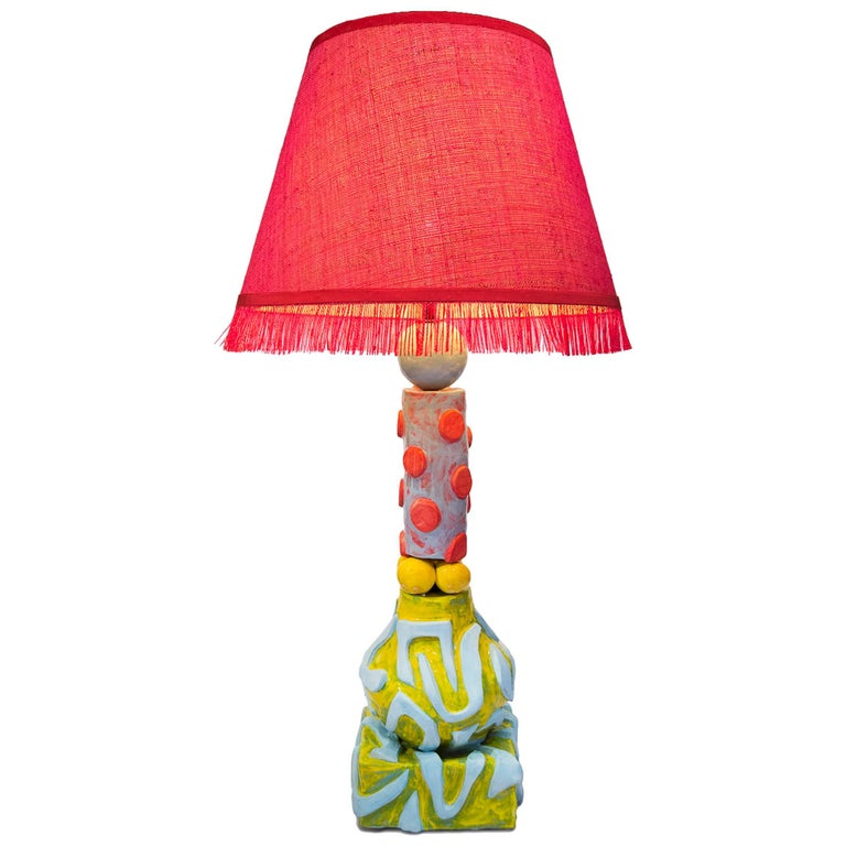 Alice Gavalet Unique Large Table Lamp, Milonga, 2015 For Sale