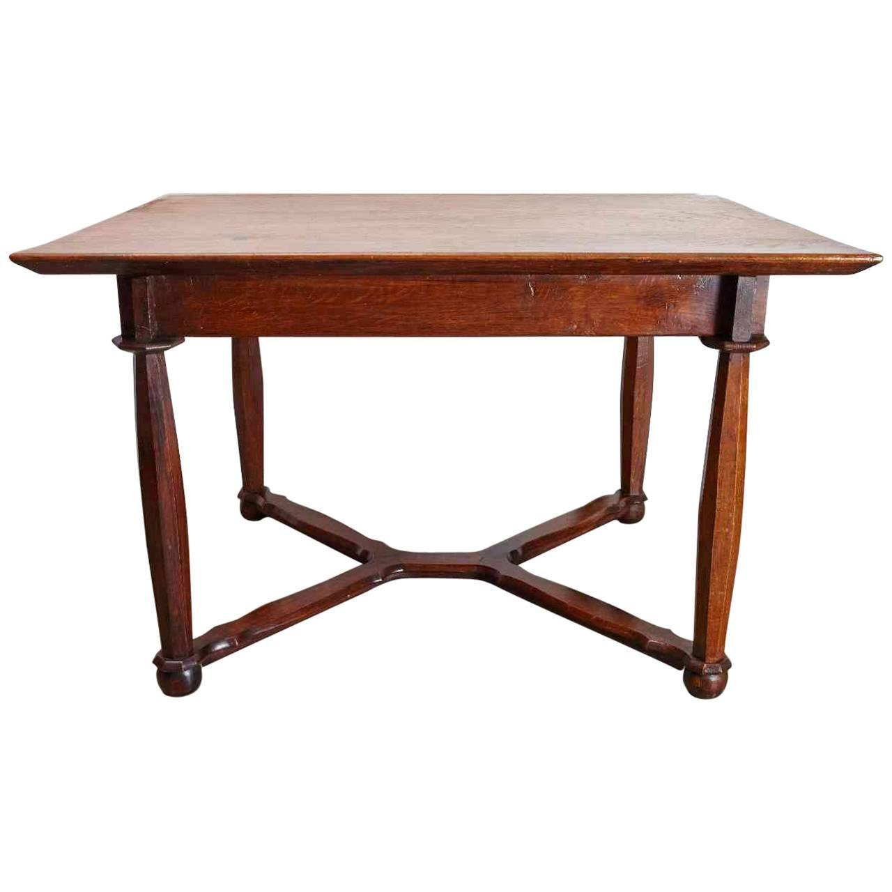 Wonderful image of 19th Century Oak Hall or Dining Table For Sale at 1stdibs with #723421 color and 1280x1280 pixels