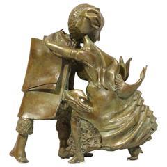"""Bronze Sculpture """"The Dancers"""" by the artist Bernard Vié"""