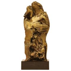 Bronze Sculpture Signed Representing a Couple
