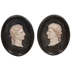 Pair of 19th Century Grand Tour Marble Plaques