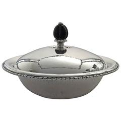 Georg Jensen Sterling Silver Bowl with Lid