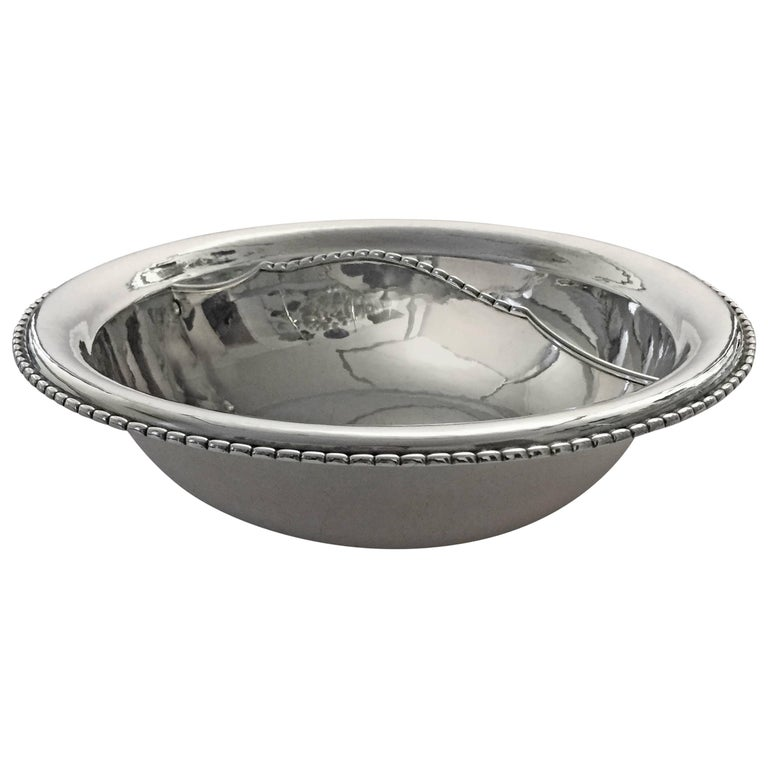 Georg Jensen Sterling Silver Divided Bowl For Sale