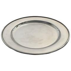 Georg Jensen Round Sterling Silver Tray #210G
