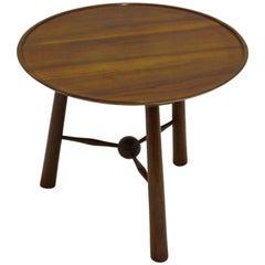Art Deco Wood Coffee Table Circle Josef Frank by Walter Sobotka Austria 1930s
