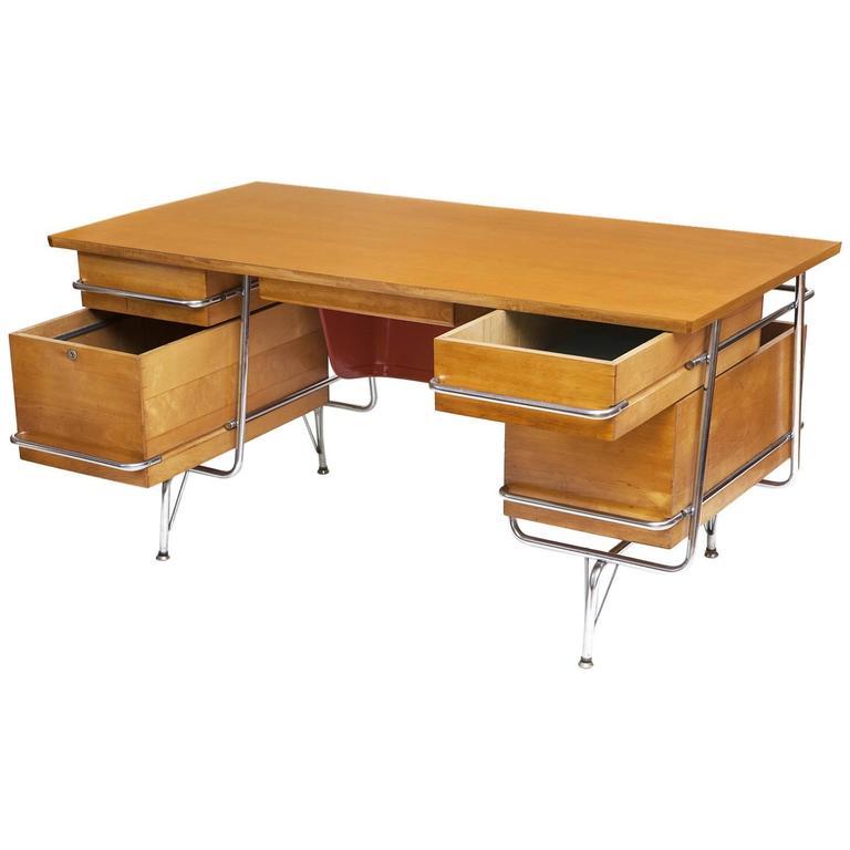 Heywood Wakefield Desk Chair In The Manner Of Kem Weber