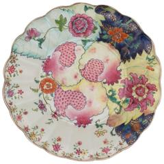 Chinese Porcelain Famille Rose Tobacco Leaf Pomegranate Tureen Stand