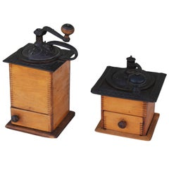 Small and Large 19th Century Coffee Grinders from New England
