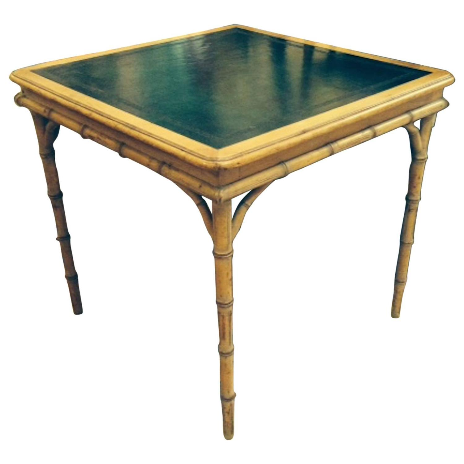 Very Chic Hollywood Regency Card Table and Four Chairs