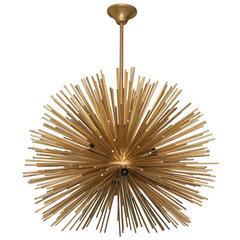Late 20th Century Italian Sputnik Chandelier in Brass
