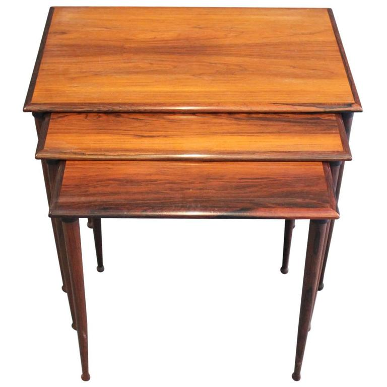 Rosewood Nesting Tables by BC Furniture Danish Design