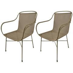 Pair of Salterini Metal Mesh Chairs