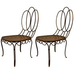 Pair of Italian Brass Side Chairs