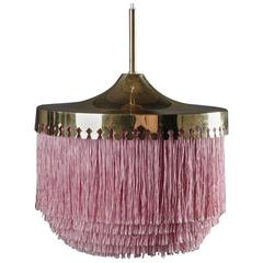 Ceiling Lamp in Brass with Silk Fringes by Hans-Agne Jakobsson