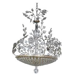 French Silver Plate Chandelier