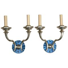 Pair of Silverplate Caldwell Sconces
