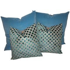 Amazing Vintage Patterned Velvet Pillows