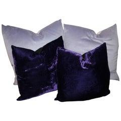 Purple and Lavender Velvet Pillows