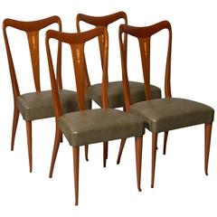 Four Elegant Italian Moderne Dining/Side Chairs