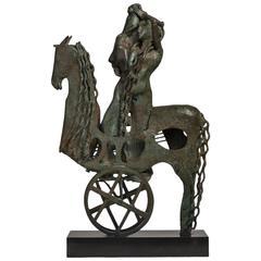 Spanish Bronze Sculpture by Oscar Estruga, circa 1979