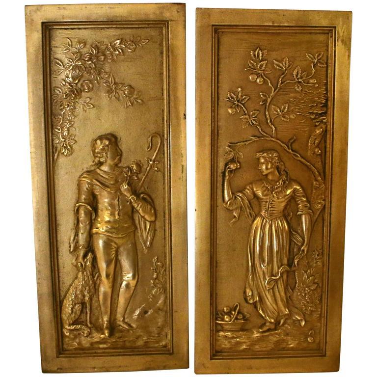 19th Century Cast Bronze Relief Panels