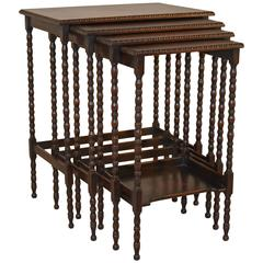 19th Century Set of Four Nesting Tables